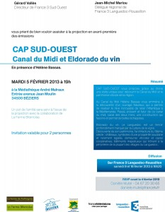 Invitation emission Cap Sud Ouest