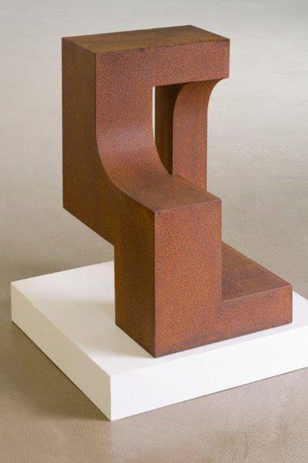 Sculpture en acier corten
